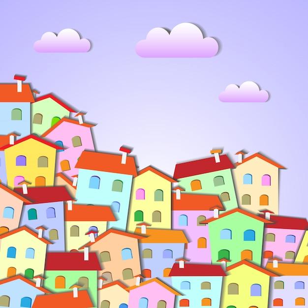 Bunte kleine stadt