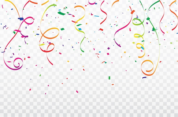 Bunte konfetti feier karneval bänder. luxuriöse grußkarte reich.