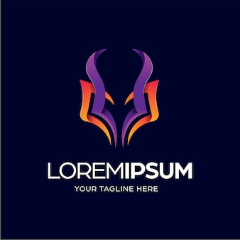 Bunte kopf-logo-design-vorlage