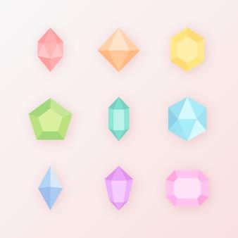 Bunte kristallsteinkollektion