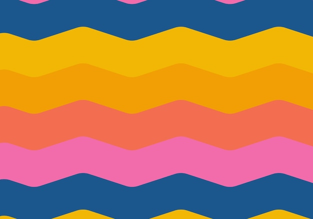 Bunte kurve streifen hintergrund. vektor-illustration. abstrakter hintergrund.