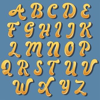 Bunte kurvige typografieentwurf
