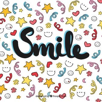 Bunte lächeln hintergrund