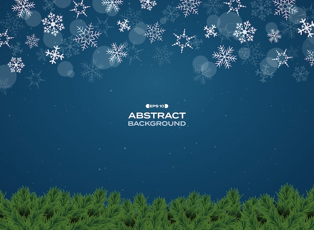 Bunte lampendekoration auf blauem weihnachtshintergrund der steigung.