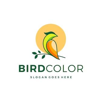 Bunte logo-designinspiration des vogels