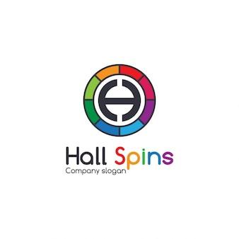 Bunte logo mit buchstaben h