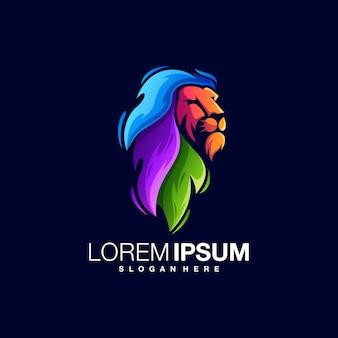 Bunte logo-vorlage des löwen