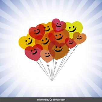 Bunte luftballons glücklich