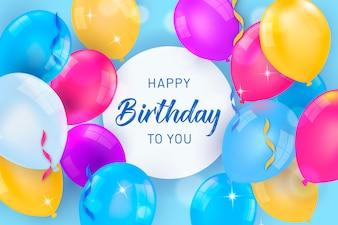 Bunte Luftballons zum Geburtstag