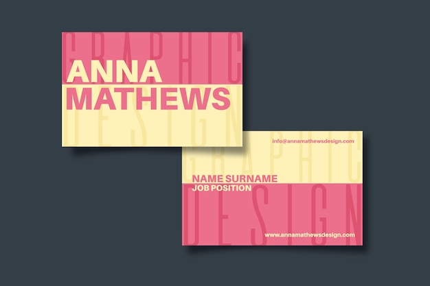 Bunte lustige grafikdesigner-visitenkarte