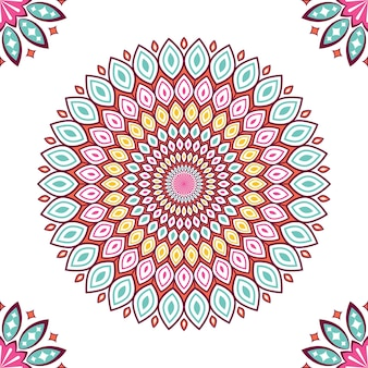 Bunte mandalas mit floralen formen