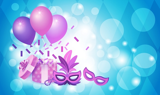 Bunte masken-brasilien-karneval rio holiday party celebration
