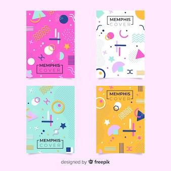 Bunte memphis-broschürensammlung