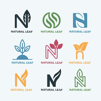 Bunte minimale logos im vintage-stil