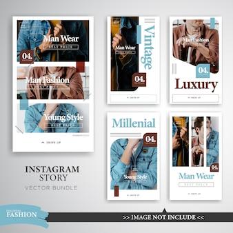 Bunte mode bilden instagram-geschichten-schablone