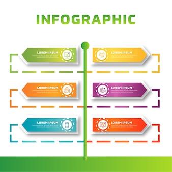 Bunte moderne infographic geschäftsschablone
