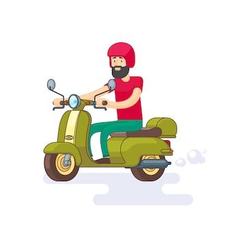 Bunte mopedschablone