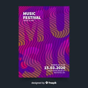 Bunte musikfestival-plakatschablone