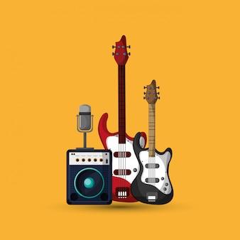 Bunte musikikonenillustration