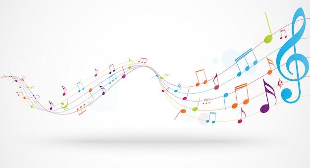 Bunte musiknoten