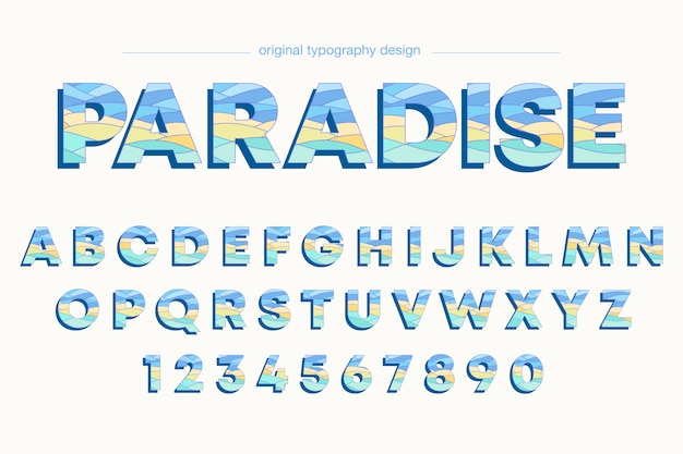 Bunte mutige typografieentwurf