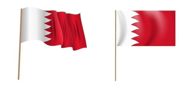 Bunte naturalistische wehende flagge des königreichs bahrain