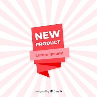 Bunte neue produktzusammensetzung mit flachem design