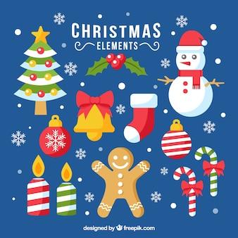 Bunte pack von weihnachten elemente