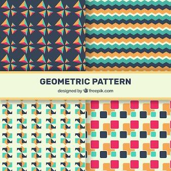 Bunte packung von geometrischen muster