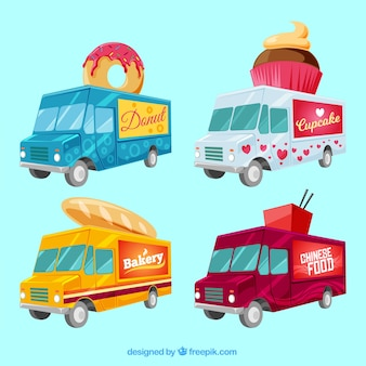 Bunte packung von original-food-trucks