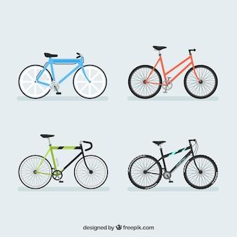 Bunte pakete von modernen fahrrädern