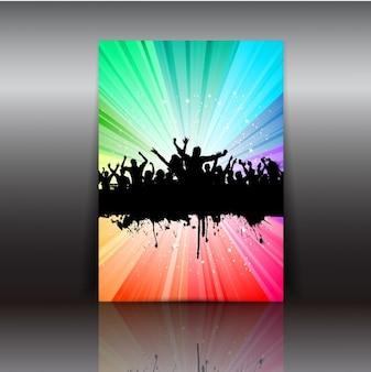 Bunte party-flyer
