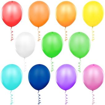 Bunte partyballons eingestellt