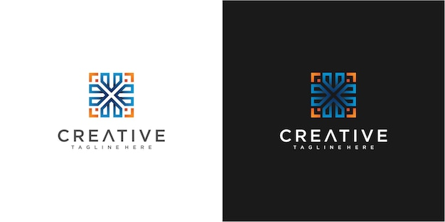 Bunte pfeil-community-logo-design-inspiration
