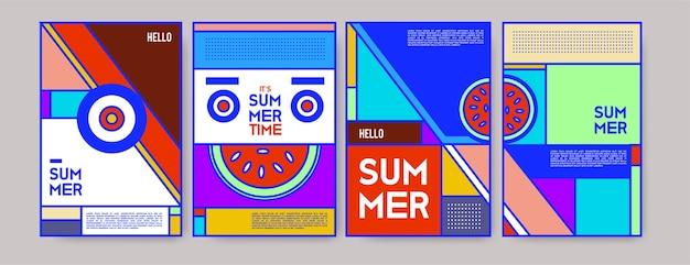 Bunte plakatschablone des sommers