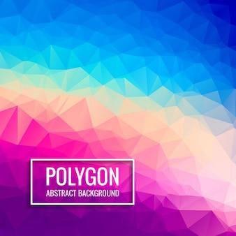 Bunte polygon hintergrund