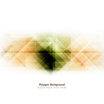 Bunte polygonform hintergrund-design