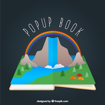 Bunte pop-up-buch