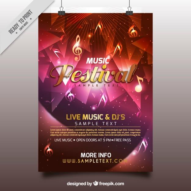Bunte poster von musikfestival