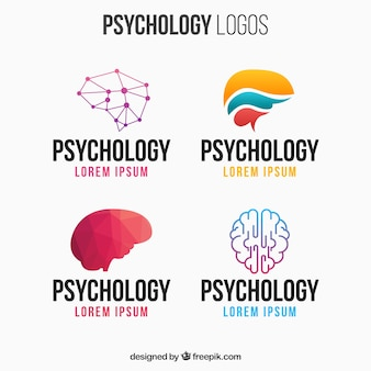 Bunte psychologie logo pack
