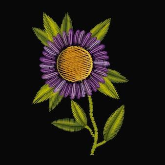 Bunte purpurrote gänseblümchenblume