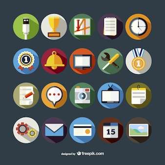 Bunte runde icons pack