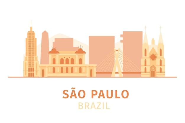 Bunte sao paulo skyline im tageslicht