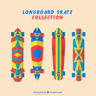 Bunte skateboard gesetzt