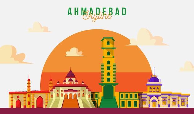 Bunte skyline von ahmedabad
