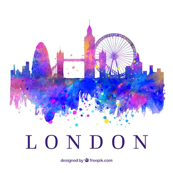 Bunte skyline von london