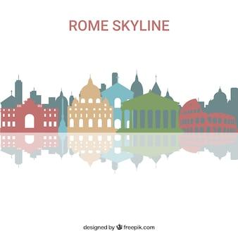 Bunte skyline von rom