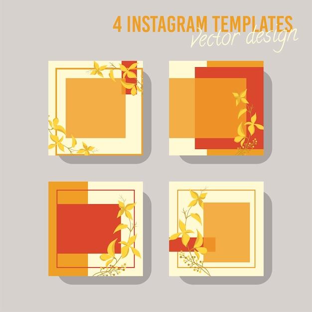 Bunte social-media-post-vorlage für laden und mode. minimalistisches geometrisches konzept.