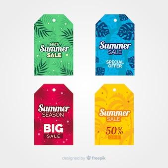 Bunte sommerschlussverkauf-aufklebersammlung