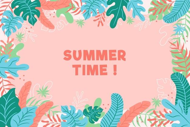 Bunte sommertapete mit blättern